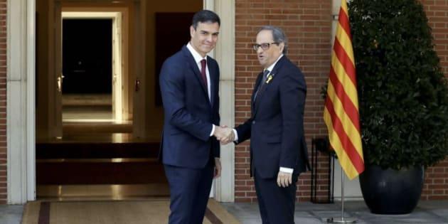 Imagen de archivo de Sánchez y Torra.