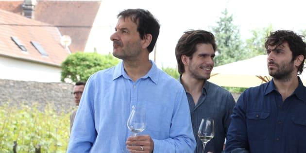 """Jean-Marc Roulot, François Civil et Pio Marmai dans le film """"Ce qui nous lie"""" de Cédric Klapisch."""