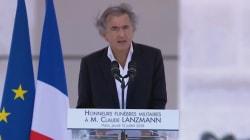 Le discours ému de Bernard-Henri Lévy pendant l'hommage à Claude