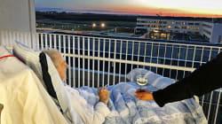 Sigaretta, vino e tramonto: l'ospedale trasgredisce le regole e realizza l'ultimo desiderio del paziente
