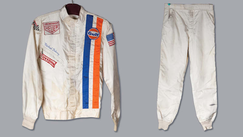 Steve McQueen's Le Mans racing helmet and suit to be auctioned