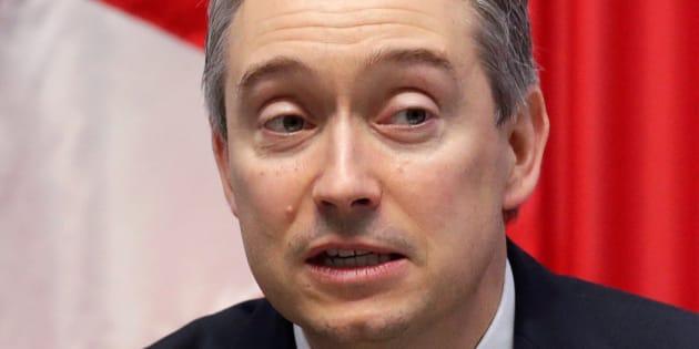 Le ministre du Commerce international du Canada, François-Philippe Champagne