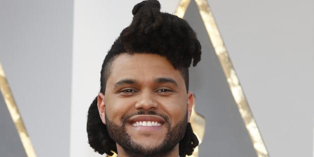 The Weeknd avec son ancienne coupe emblématique.