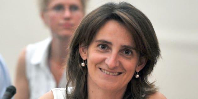 Teresa Ribera en una foto de cuando era secretaria de Estado de Cambio Climático en 2008 en París.