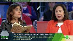 María Llapart pone en un apuro a Margarita Robles con esta pregunta sobre Arabia Saudí en 'LaSexta