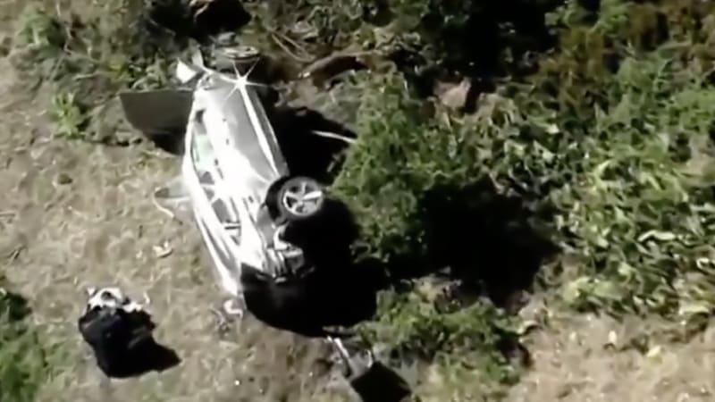 Тайгер Вудс получил травму ноги в результате аварии на автомобиле
