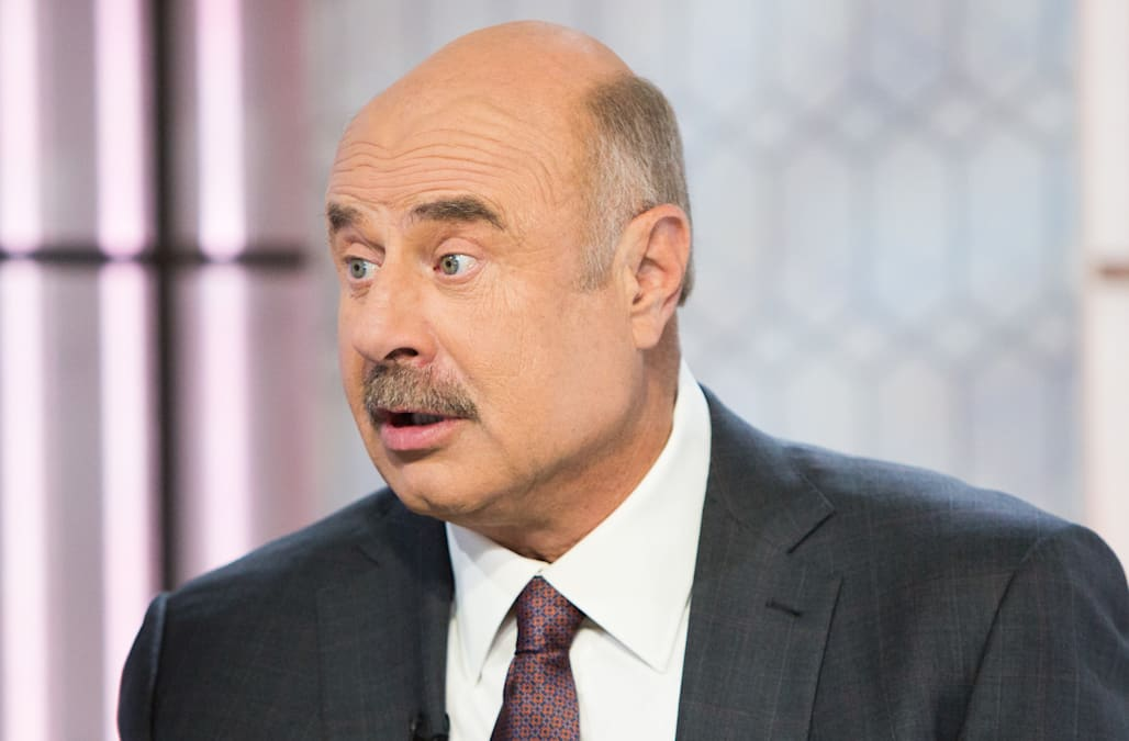 Dr  Phil shaved off his iconic mustache -- or did he? - AOL