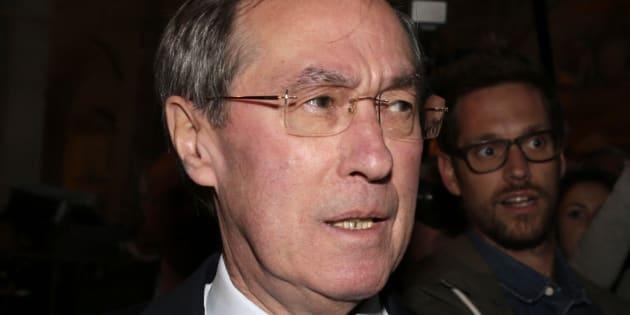 Claude Guéant lors de son procès à Paris le 28 septembre 2015.