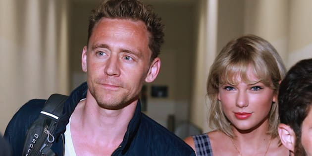 Tom Hiddleston and Taylor Swift at Sydney airport.