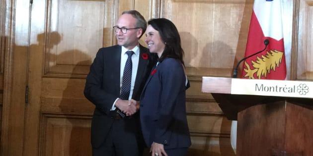 Le ministre Martin Coiteux refuse de s'avancer sur la «ligne rose» de Valérie Plante
