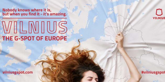 """""""Vilnius, le point G de l'Europe. Personne ne sait où c'est, mais quand vous le trouvez, c'est extraordinaire"""", peut-on lire sur l'affiche de le campagne """"Go Vilnius""""."""