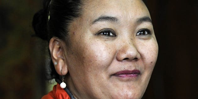 In this photograph taken on April 13, 2016, Nepalese mountaineer Lakpa Sherpa prepares her equipment during an interview with AFP in Kathmandu. The daughter of a yak herder, Lhakpa Sherpa worked as a porter and kitchen hand on trekking and mountaineering expeditions when she was young, before climbing solo. Generations of men from Nepal's famed Sherpa community have climbed the Himalayas, while their wives and daughters have traditionally kept the home fires burning. But in a sign of changing times, a string of Sherpa women are now breaking records themselves, not only on 8,848-metre (29,029-foot) high Everest but other dangerous peaks.  / AFP / PRAKASH MATHEMA / TO GO WITH AFP STORY NEPAL-MOUNTAINEERING-GENDER-QUAKE,FEATURE BY AMMU KANNAMPILLY        (Photo credit should read PRAKASH MATHEMA/AFP/Getty Images)