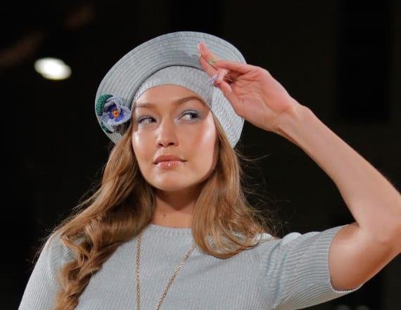 Gigi Hadid suffers wardrobe malfunction at NYFW