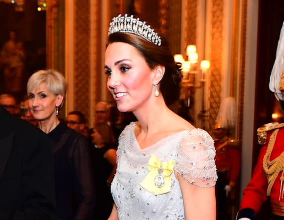 Duchess Kate stuns in sequin Jenny Packham gown