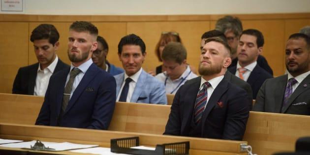 Cour Suprême de Brooklynn, 26 juillet 2018, Conor McGregor a plaidé coupable.