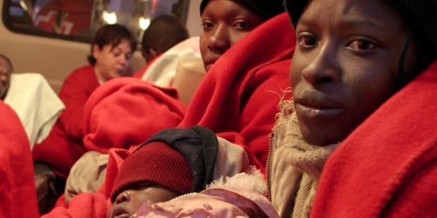 Imigrantes africanos no sul da Espanha.