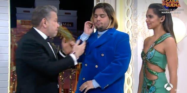Alberto Chicote, Brays Efe y Cristina Pedroche en las campanadas de Antena 3.