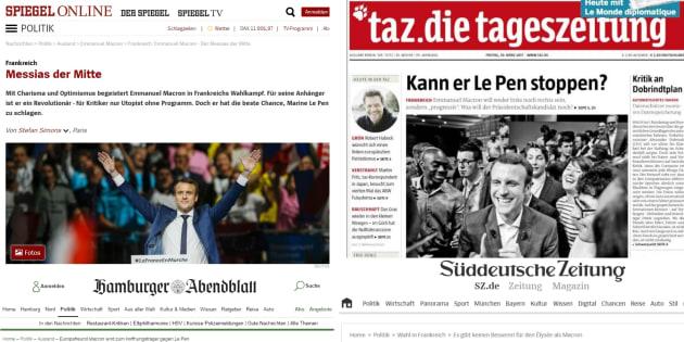 """""""Messie"""" centriste, """"ami"""" de l'Europe et rempart face à Le Pen: comment Macron est vu en Allemagne"""
