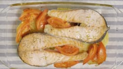 Receta de salmón al