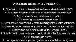 El pacto Gobierno-Podemos, de un