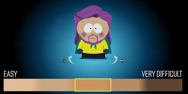 Character skin tone changes with difficulty level in new South Park game