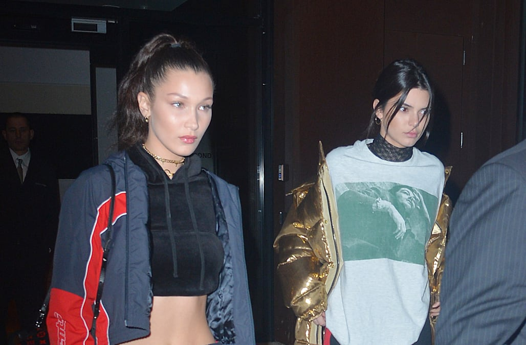 a52a6a5c62 Bella Hadid and Kendall Jenner bombarded by ban brandishing Palestinian  flag, who is later arrested