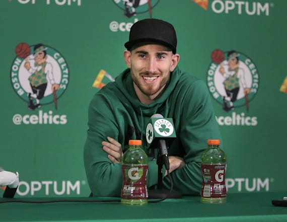Gordon Hayward is already out of his walking boot