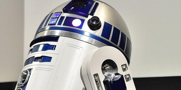 """R2-D2  lors de la diffusion de  """"Le réveil de la force: une journée cinématographique"""" à Austin au Texas le 14 mars 2016"""