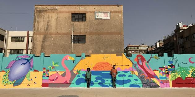O clima de guerra na Síria deu espaço às cores do grafite brasileiro.