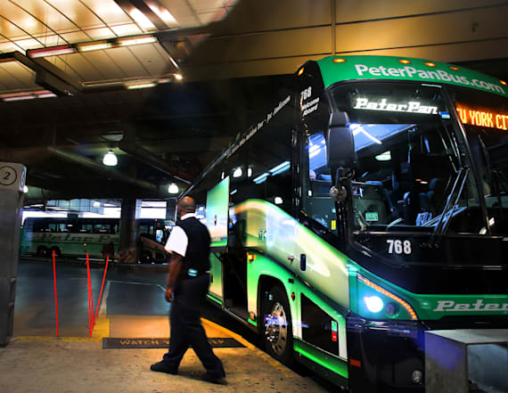 Woman says bus driver locked her in luggage area