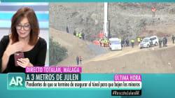 Ana Rosa Quintana lee un WhatsApp sobre el caso de Julen que provoca un gran aplauso en el