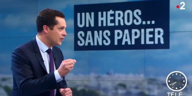 Nicolas Bay, vice-président du FN, sur le plateau de France 2 lundi 28 mai 2018.