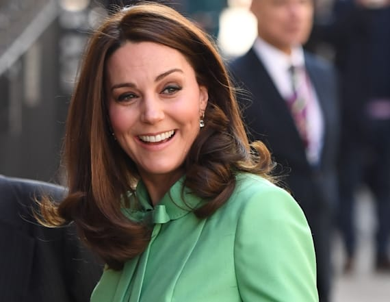 Duchess Kate steps out in mint green