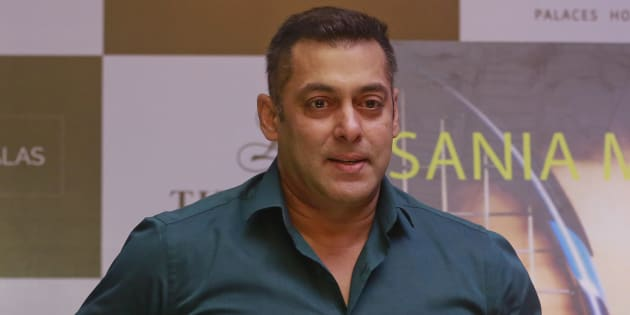 Salman Khan at a press conference for the launch of Sania Mirza's autobiography 'Ace Against Odds'