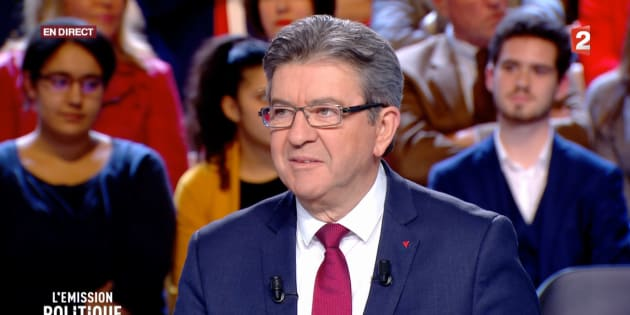"""Jean-Luc Mélenchon sur le plateau de """"L'Emission politique"""" jeudi 30 novembre."""