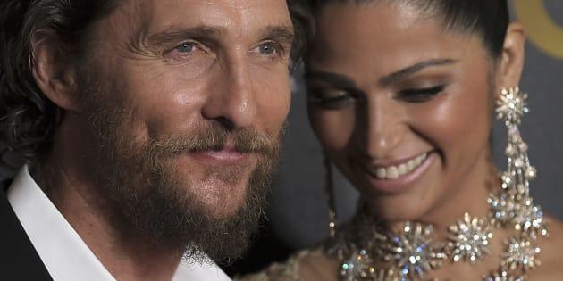 Matthew McConaughey et Camila Alves à New York le 17 janvier.