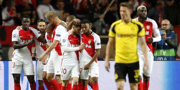 Les Monégasques qualifiés face à Dortmund en Ligue des champions le 19 avril 2017.