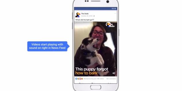 Les vidéos du fil d'actualité de Facebook seront lancées avec du son automatiquement, sauf si...