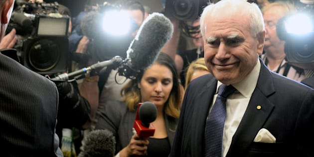 """Former Prime Minister John Howard says his Liberal colleagues should not be """"slitting their throats"""" over the election result."""