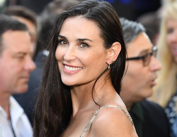 Demi Moore steps out with lookalike daughters