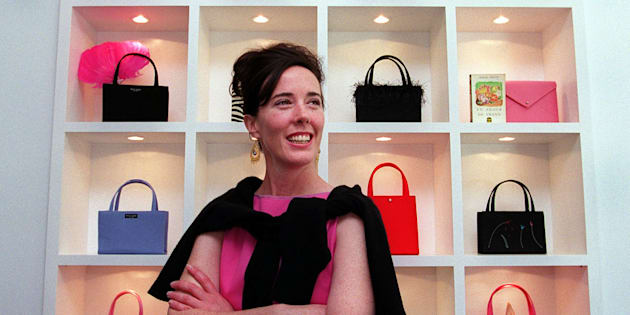 Designer Kate Spade Poses For A Portrait In Her Handbag Boston On June 25