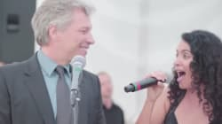 Jon Bon Jovi, cantante espontáneo en una