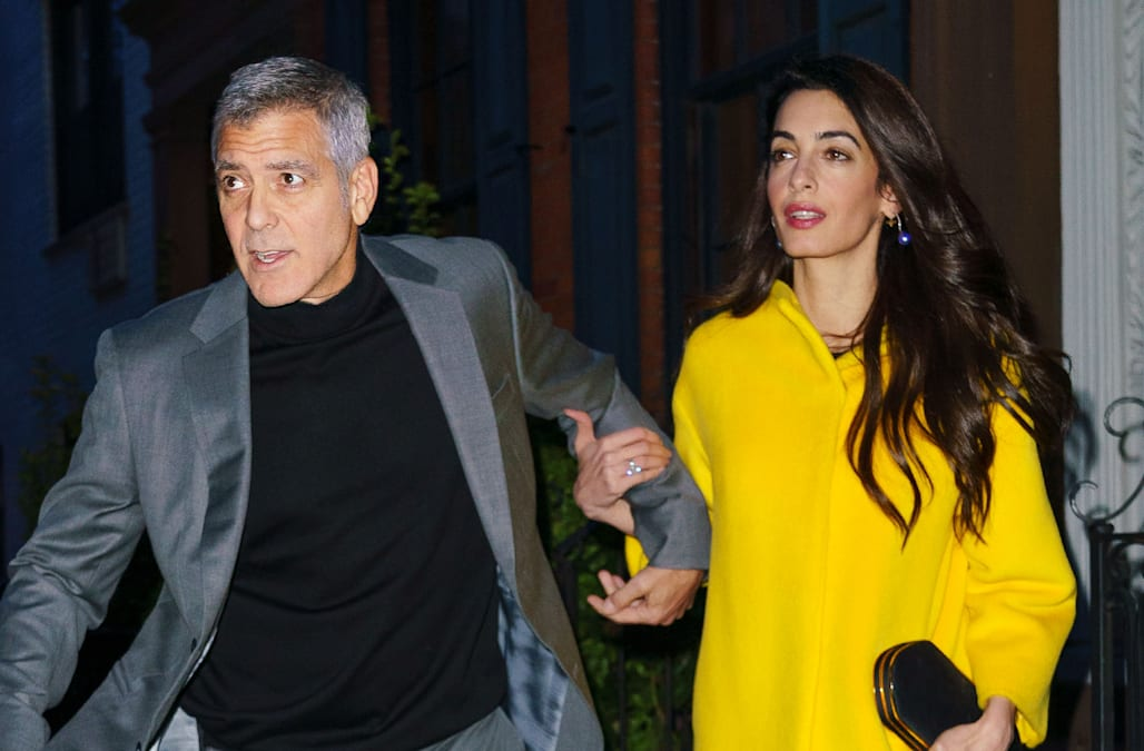 2152238bc9 Amal Clooney glamorously celebrates husband George s birthday ahead of Met  Gala -- see the pic!