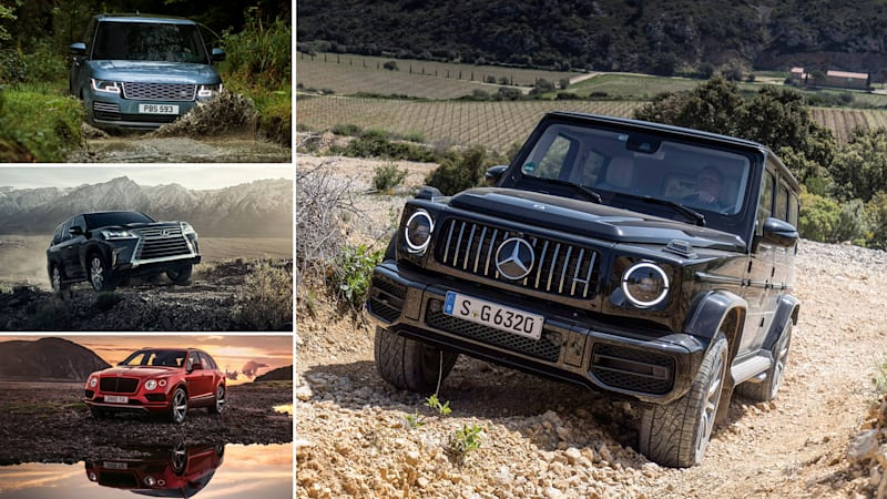 2019 Mercedes G-Class vs Range Rover, Lexus LX 570 and Bentley