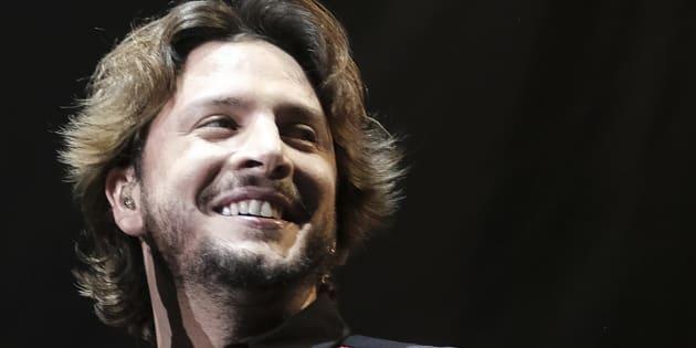 Manu Carrasco, en un concierto en Madrid en 2017.
