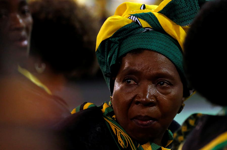 Former minister and chairwoman of the African Union Commission Nkosazana Dlamini-Zuma looks on at the end of the 54th National Conference of the ruling African National Congress (ANC) at the Nasrec Expo Centre in Johannesburg, South Africa, December 21, 2017. REUTERS/Siphiwe Sibeko
