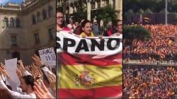 Drapeaux, slogans... de Madrid à Barcelone, les manifs se suivent et ne se ressemblent
