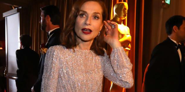 Isabelle Huppert à la 89ème cérémonie des Oscars.