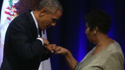 Barack s'inchina alla regina Aretha: