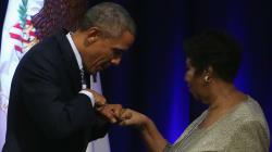 Aretha Franklin, Barack Obama y su mágica